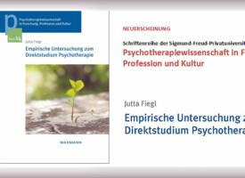 PTW | Buch-Neuerscheinung von Univ.- Prof. Dr. Jutta Fiegl: Empirische Untersuchung zum Direktstudium Psychotherapie