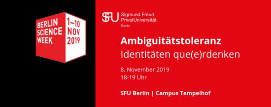 Berlin Science Week 2019 | Sexuelle und geschlechtliche Identitäten que(e)rdenken