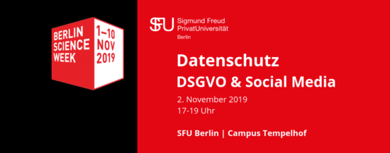 Berlin Science Week 2019 | Datenschutz: DSGVO und Social Media