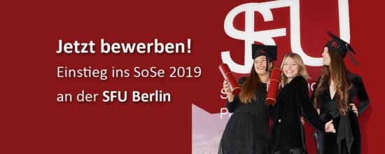 SFU Berlin | Einstieg ins Sommersemester 2019