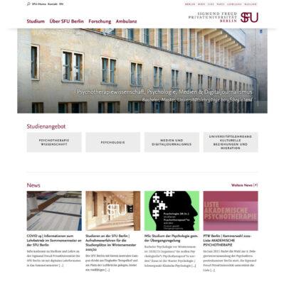 Die SFU Berlin im neuen Corporate Design der SFU ist online!
